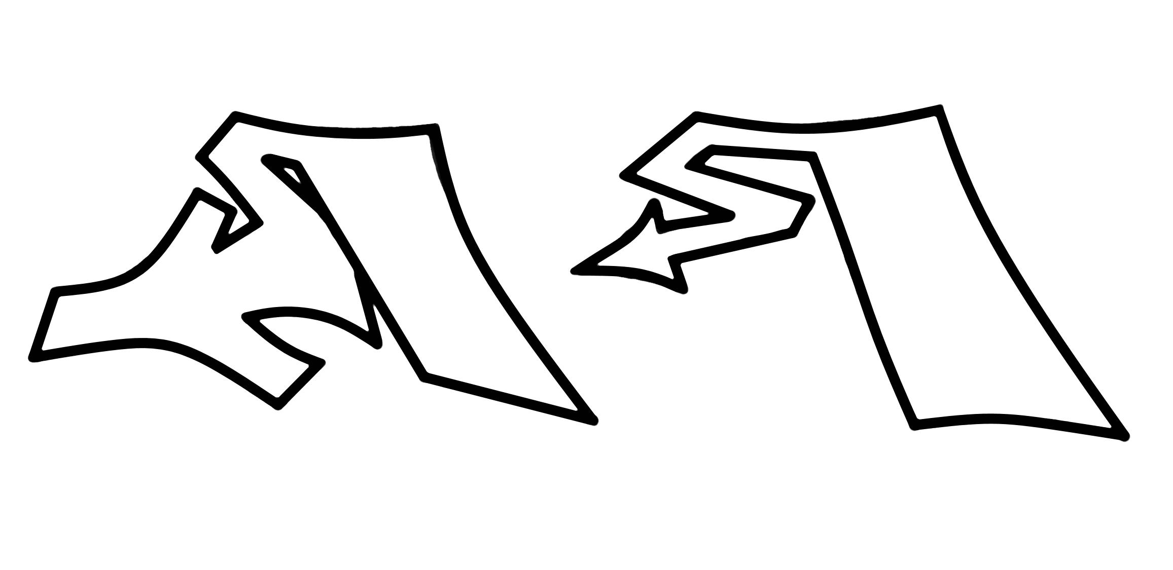 Graffiti Buchstaben Proportionen