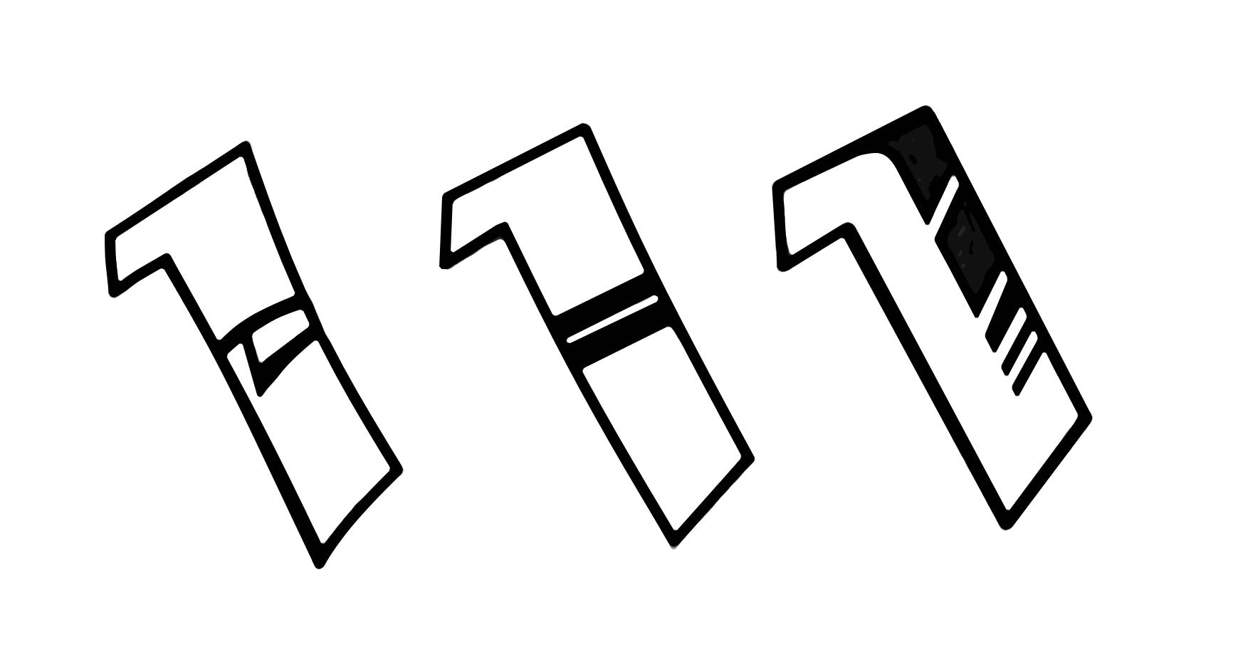 Buchstaben Fill in