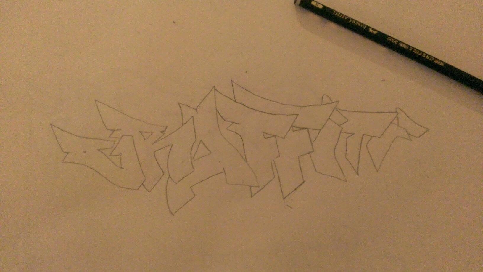 graffiti buchstaben rohfassung