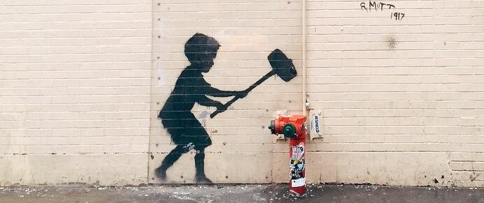 Graffiti Leinwand für Street Art Fans - Graffiti Buchstaben