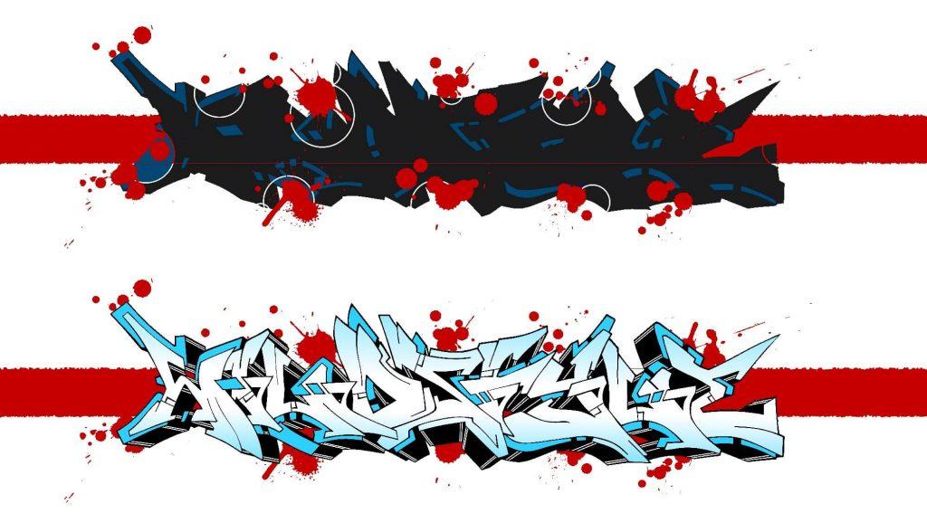 Graffiti Hintergrund - Graffiti Buchstaben